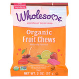 Wholesome! Organic Candy - Natural Flavor Fruit Chews - Case Of 12 - 2 Oz