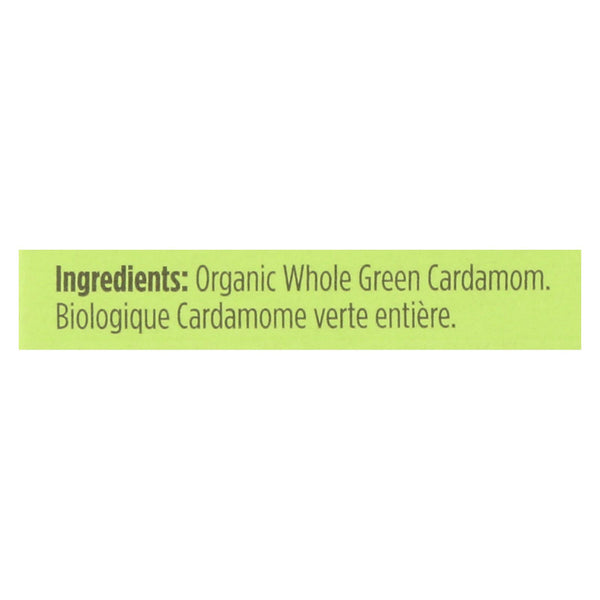 Spicely Organics - Organic Cardamom Pods - Green - Case Of 6 - 0.2 Oz.