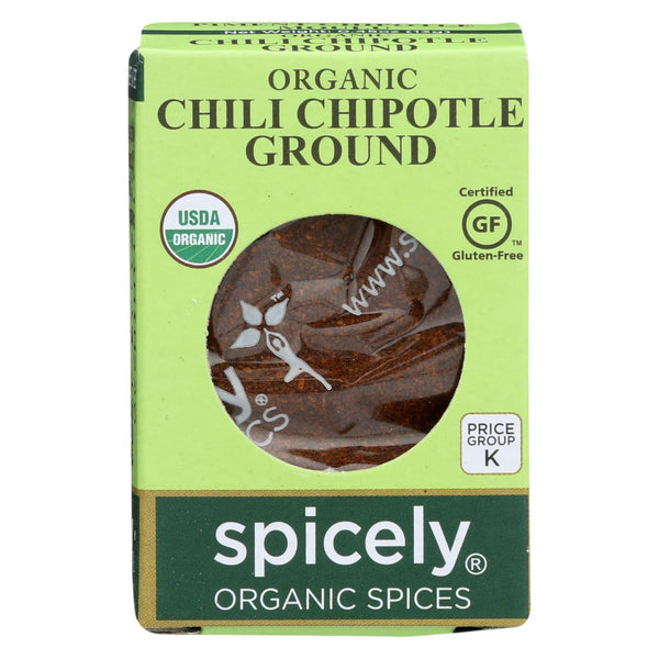 Spicely Organics - Organic Chipotle Chili - Ground - Case Of 6 - 0.45 Oz.