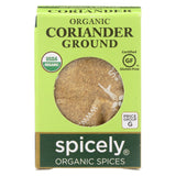 Spicely Organics - Organic Coriander - Ground - Case Of 6 - 0.45 Oz.