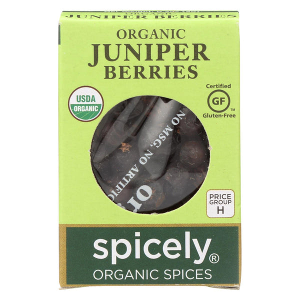 Spicely Organics - Organic Juniper Berries - Case Of 6 - 0.2 Oz.