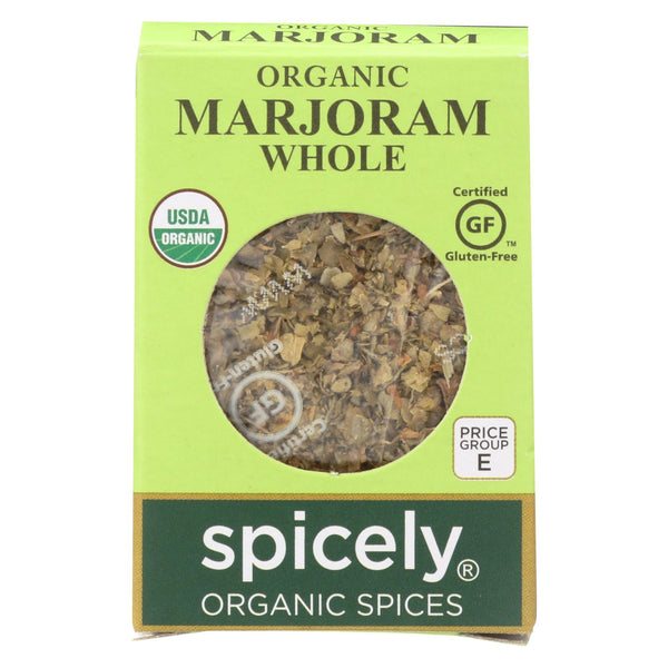 Spicely Organics - Organic Marjoram - Whole - Case Of 6 - 0.1 Oz.