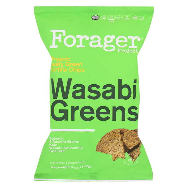 Forager Project Vegetable Chips - Wasabi Greens - Case Of 12 - 5 Oz.