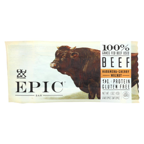 Epic - Bar - Beef - Habanero - Cherry - Case Of 12 - 1.5 Oz