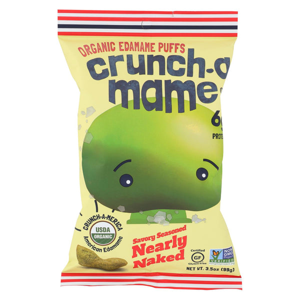 Cruncha Ma Me Edamame - Savory Seasoned Nearly Naked - Case Of 6 - 3.5 Oz.