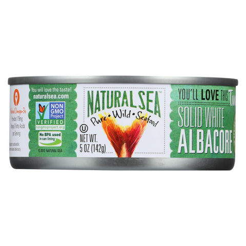 Natural Sea Wild Albacore Tuna - With Sea Salt - 5 Oz.
