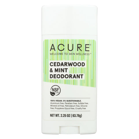 Acure - Deodorant - Cedarwood And Mint - 2.25 Oz