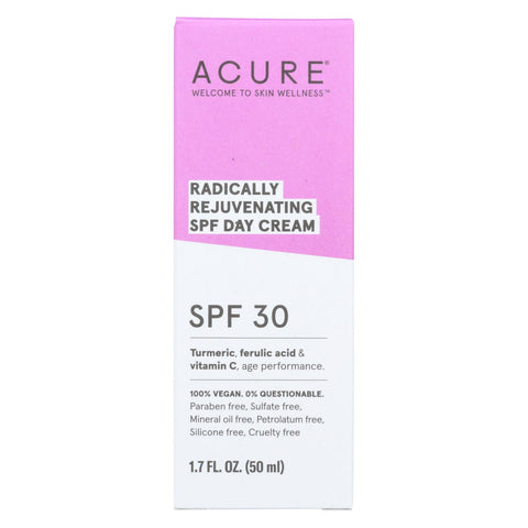 Acure - Spf 30 Day Cream - Radically Rejuvenating - 1.7 Fl Oz.