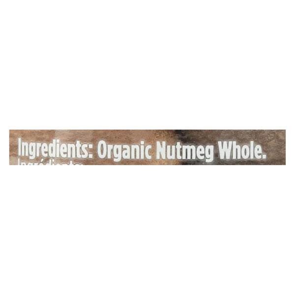 Spicely Organics - Organic Nutmeg - Whole - Case Of 3 - 1.4 Oz.