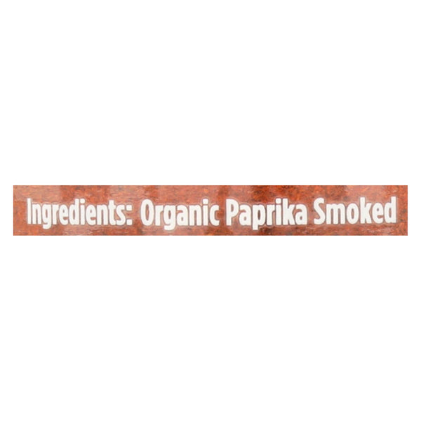 Spicely Organics - Organic Paprika - Smoked - Case Of 3 - 1.7 Oz.