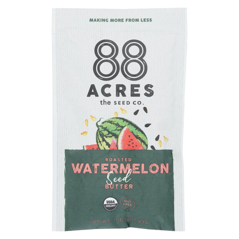 88 Acres - Seed Butter - Organic Watermelon - Case Of 10 - 1.16 Oz.