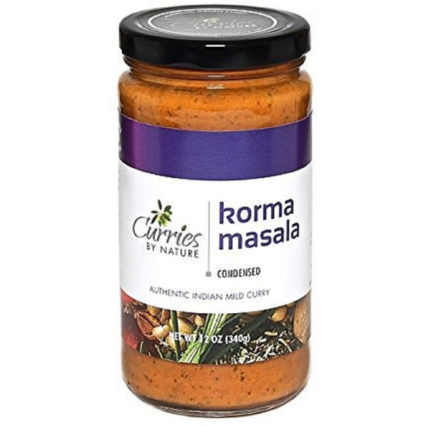 CURRIES BY NATURE: Sauce Curry Korma Masala, 12 oz