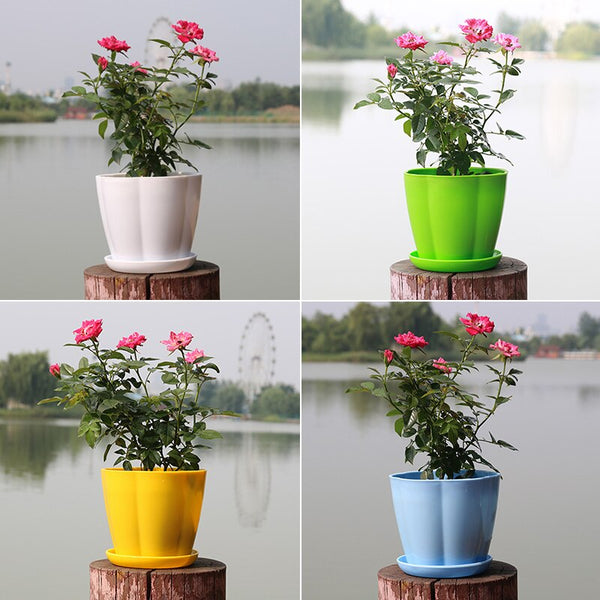 Plastic Flower Pots Resin