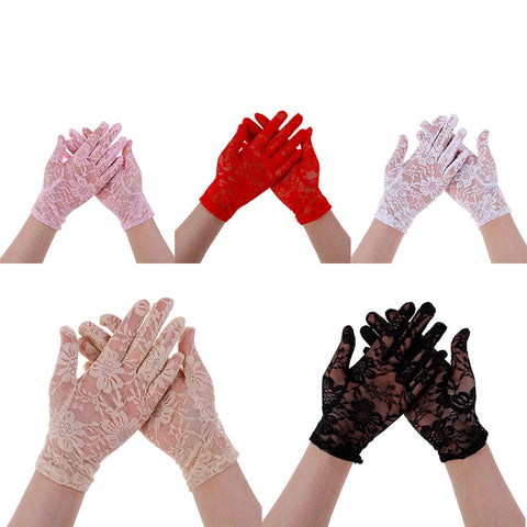 Female Sexy Lace Driving Gloves