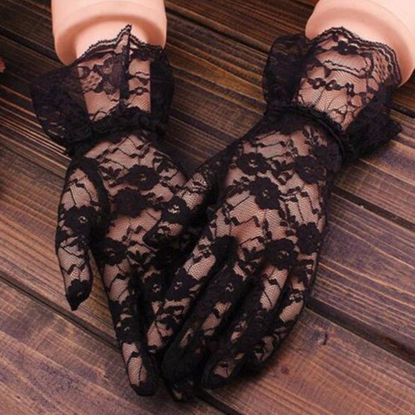 Sexy Black Lace Gloves Women