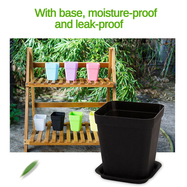 Mini Square Plastic Plant Flower Pot