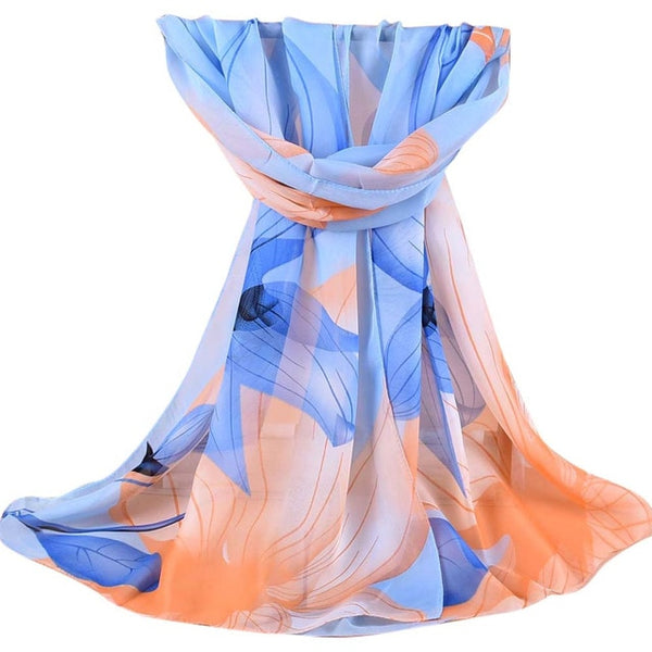 Women Printed Soft Chiffon Shawl