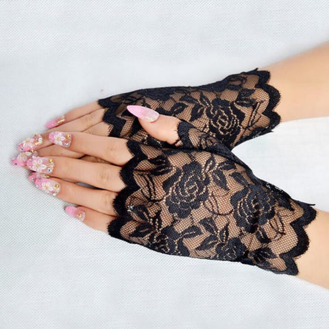 Sexy Lace Gloves Ladies Half Finger