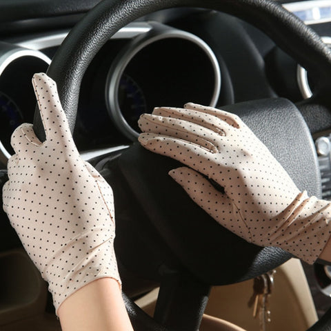 Women Sun Protection Wrist Gloves