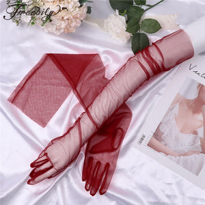 Sheer Tulle Gloves Ultra Thin
