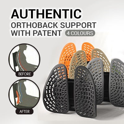 Original Orthoback Back Support Lumbar Support with Patent