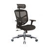 Enjoy Classic Black Back Mesh and Fabric Seat With Headrest With Aluminium Base