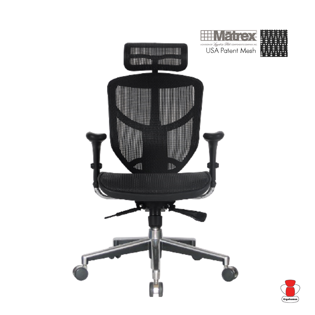 Enjoy Deluxe Black Mesh Chair With Headrest