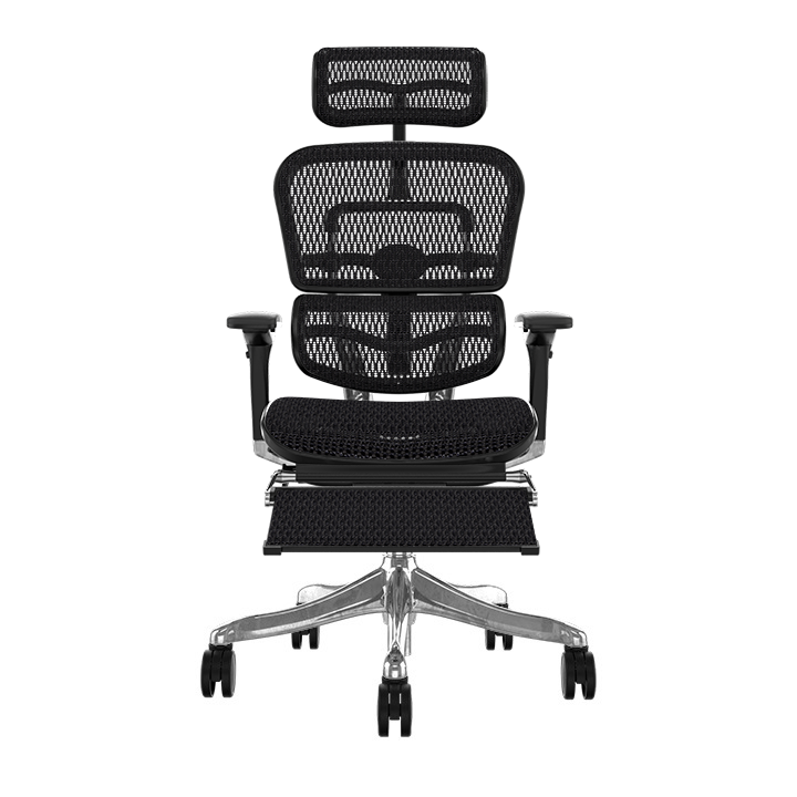 Ergohuman Plus Elite Black Mesh Chair with Legrest