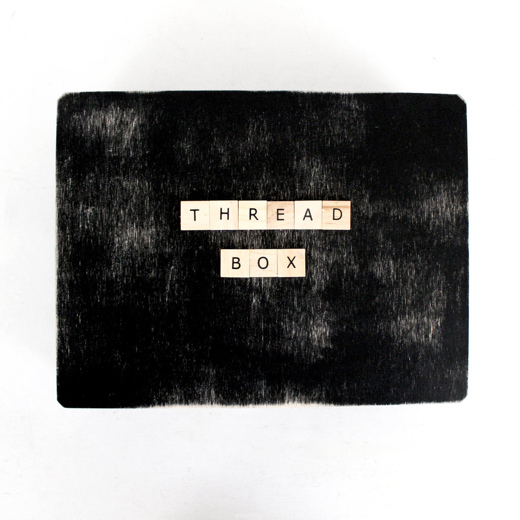 How To Organize My Sewing Space: DIY Thread Box Featured Image