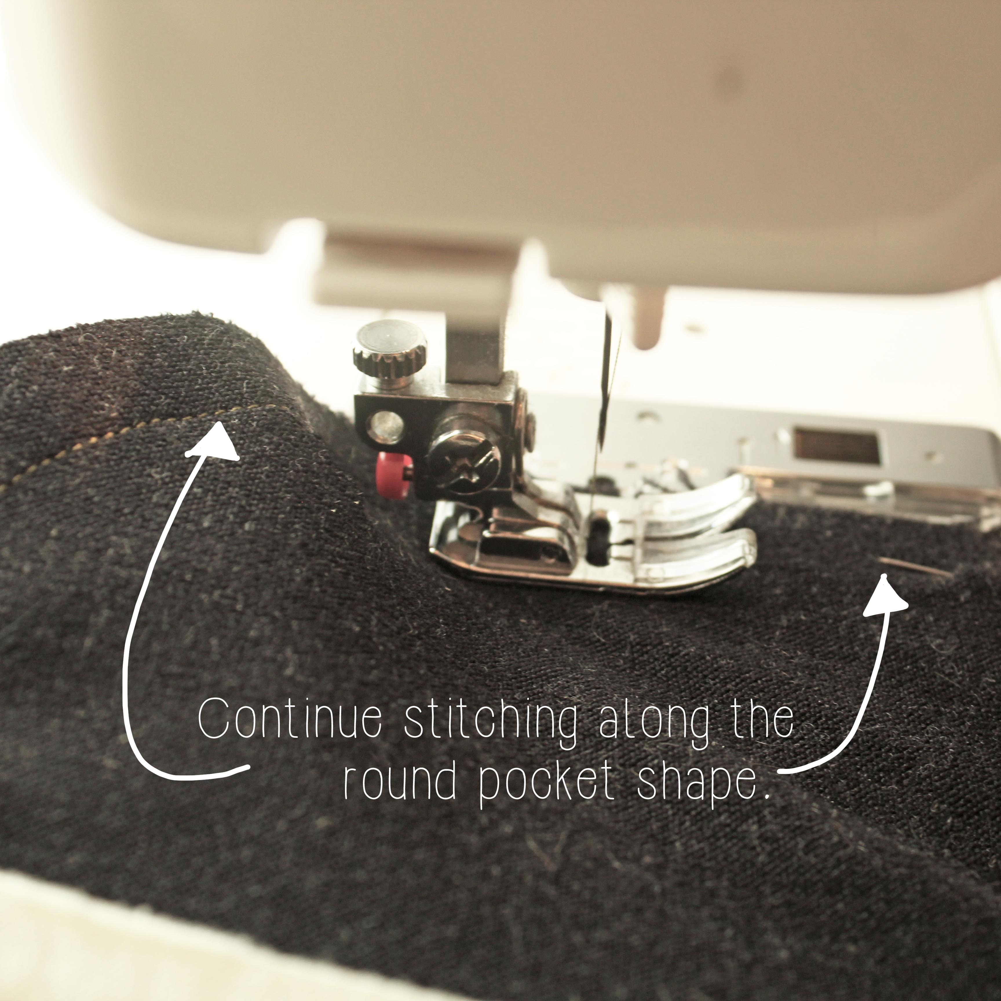 The Ashby Coat Sewing Tutorial Garment Construction Sewing Technique Step 6.2 Pocket Sewing