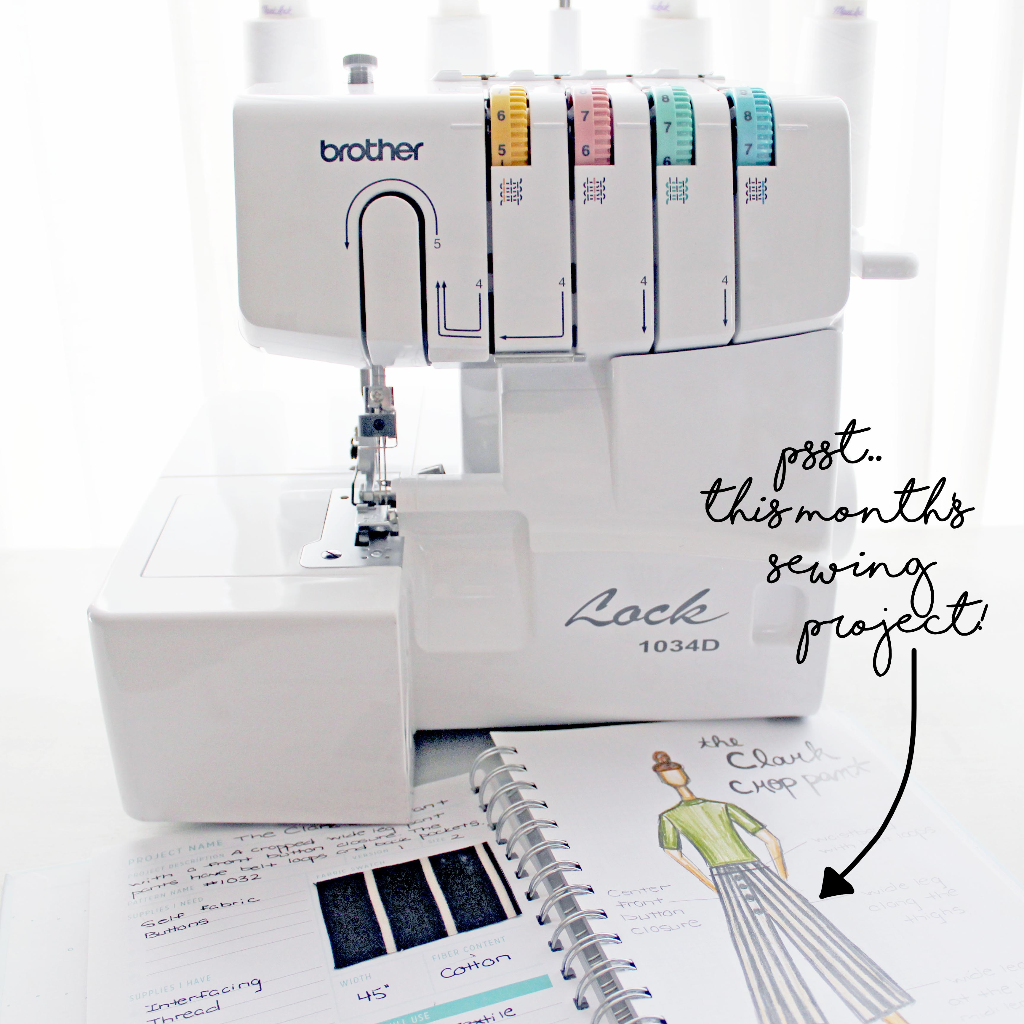 Brother 1034D Serger Machine & Sewing Project
