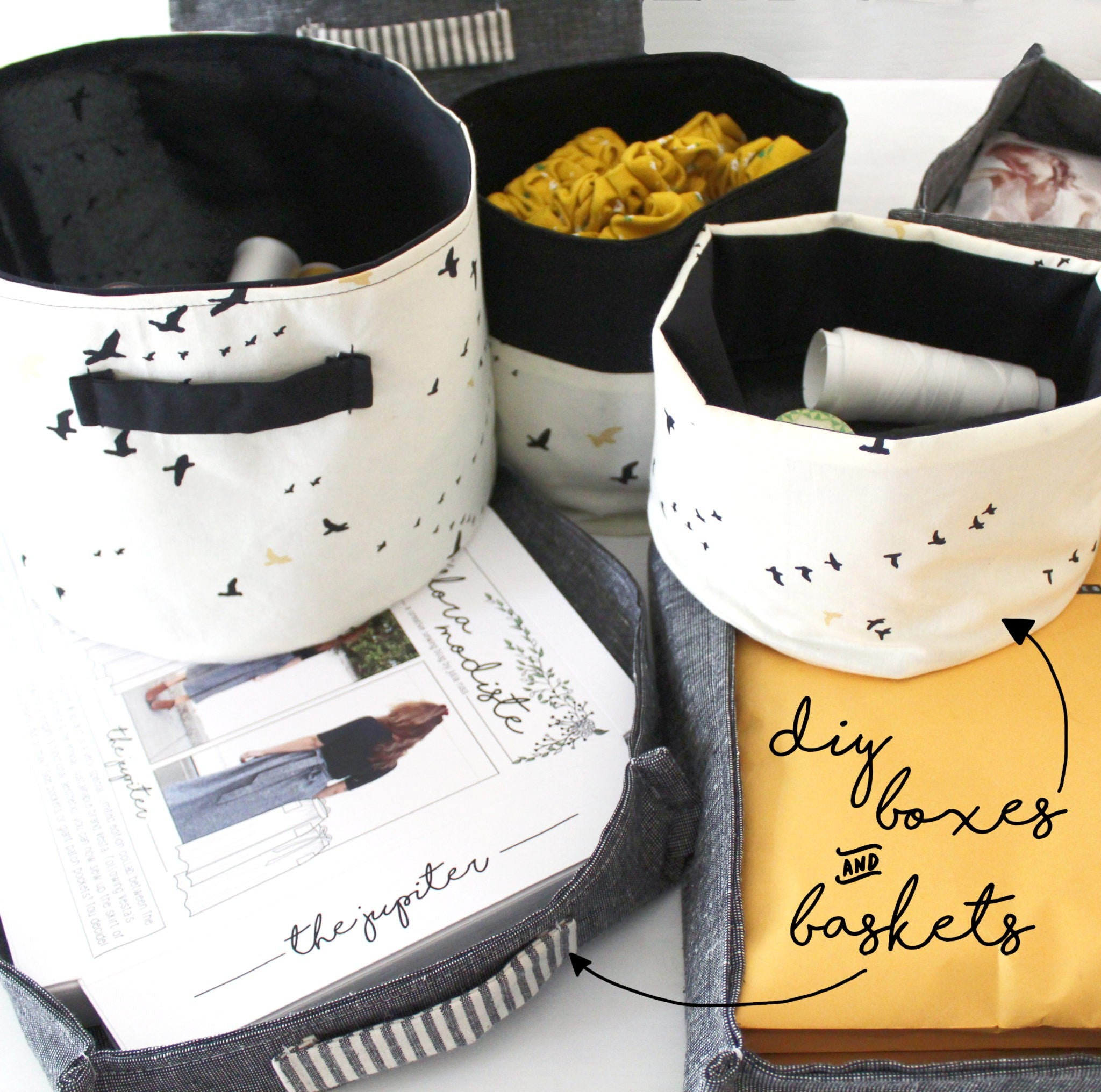 DIY Fabric Storage Boxes & Baskets