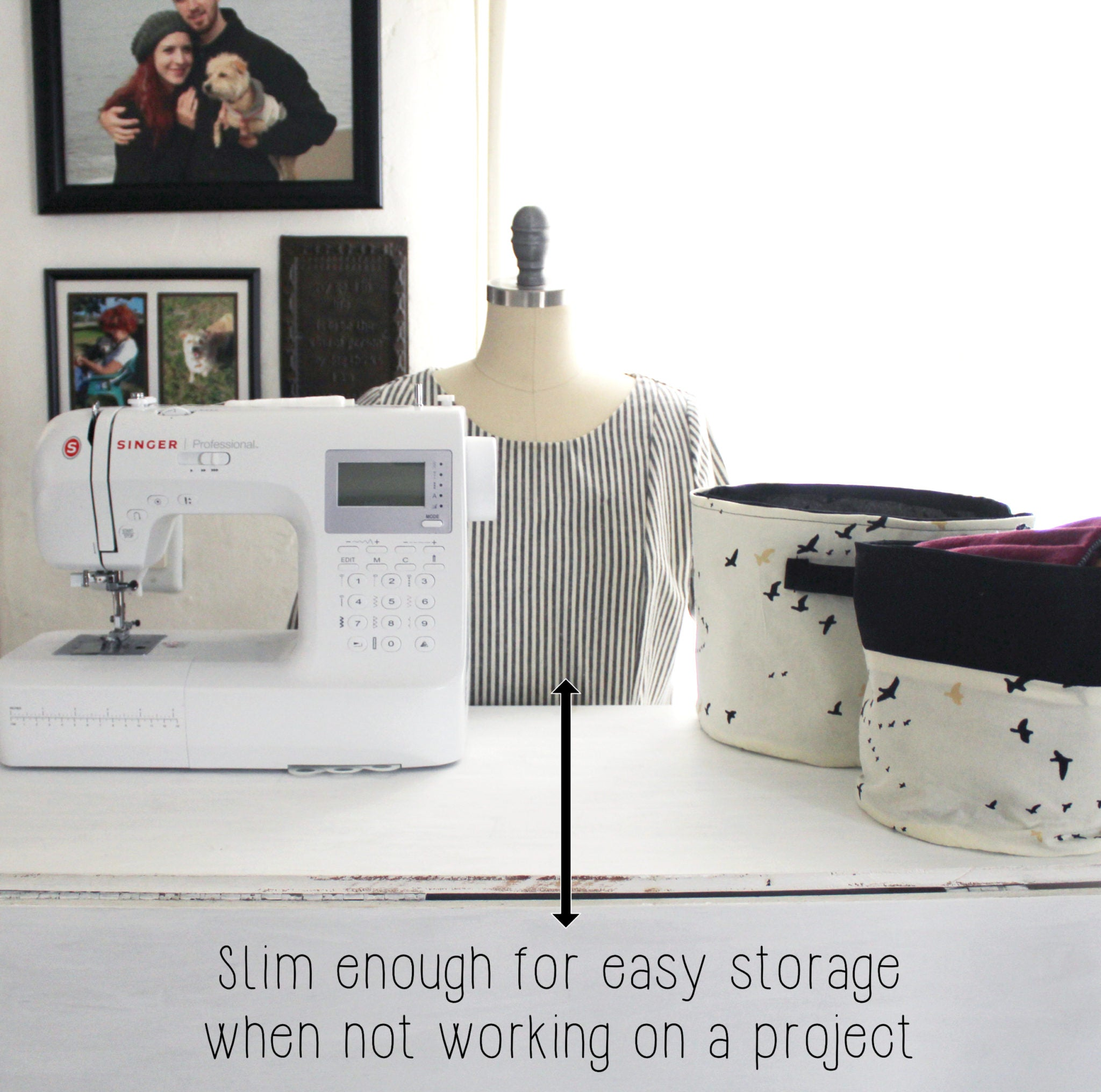 How To Organize My Sewing Space: DIY Sewing Table Storage