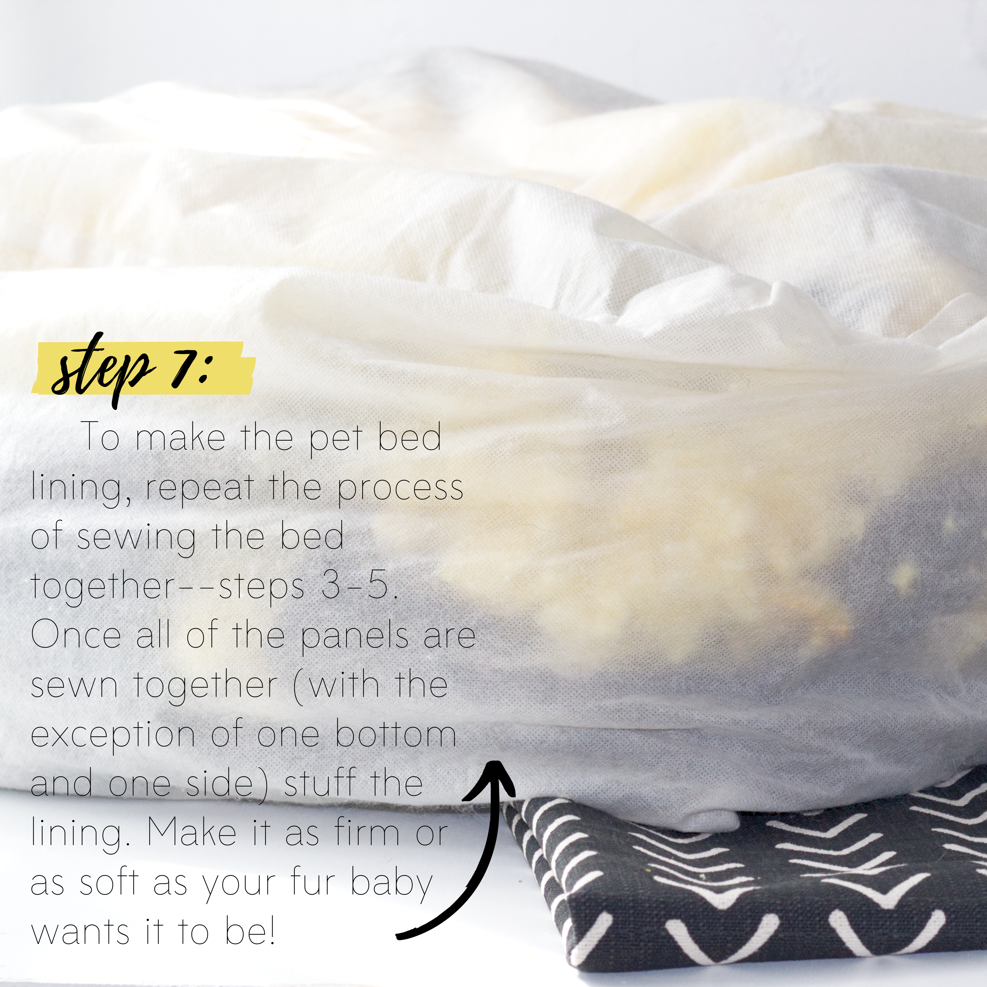 How to sew an easy pet bed DIY sewing tutorial: Step 7
