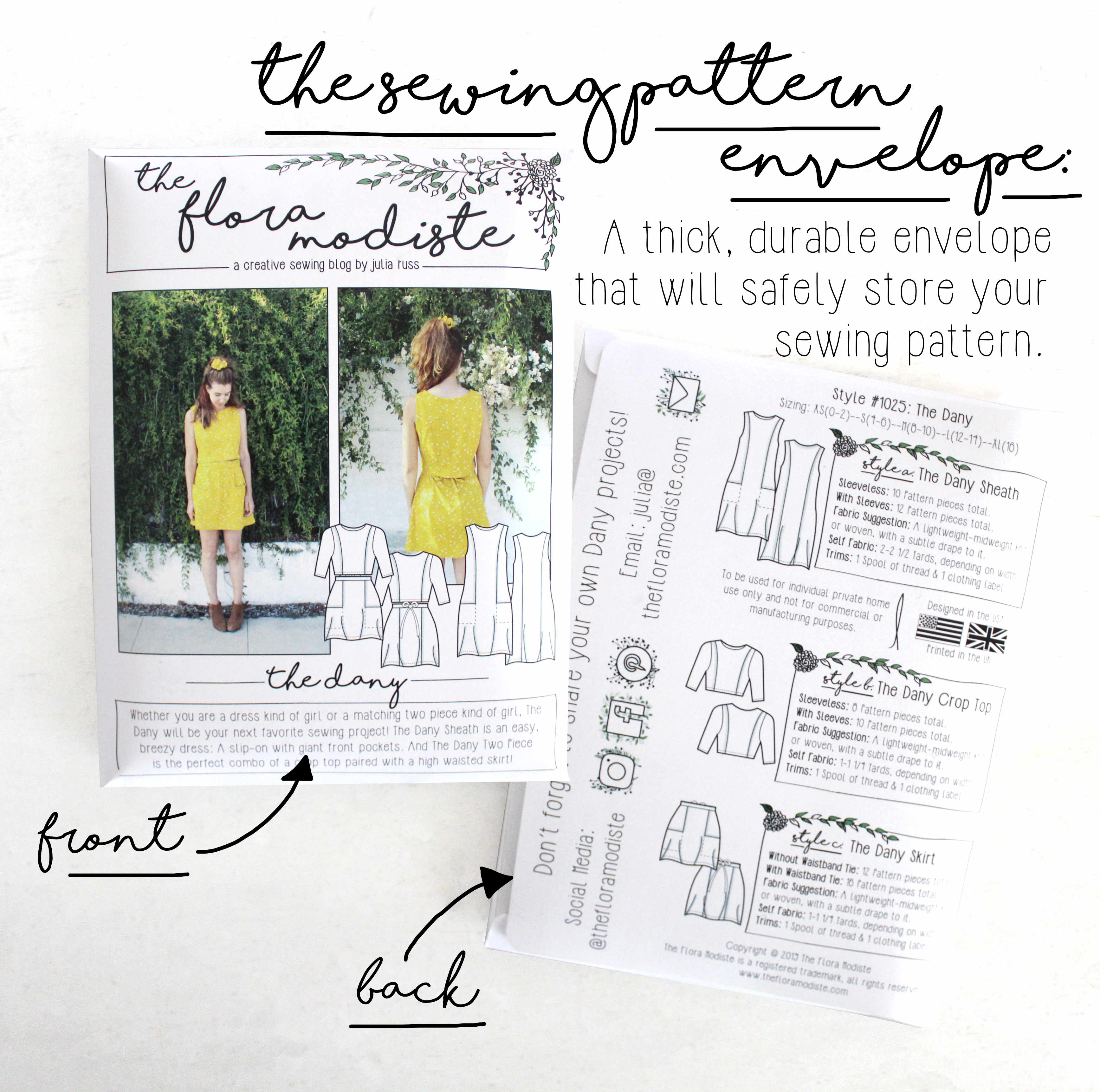 A Breakdown of the Dany DIY Sewing Project Kit: The Sewing Pattern Envelope
