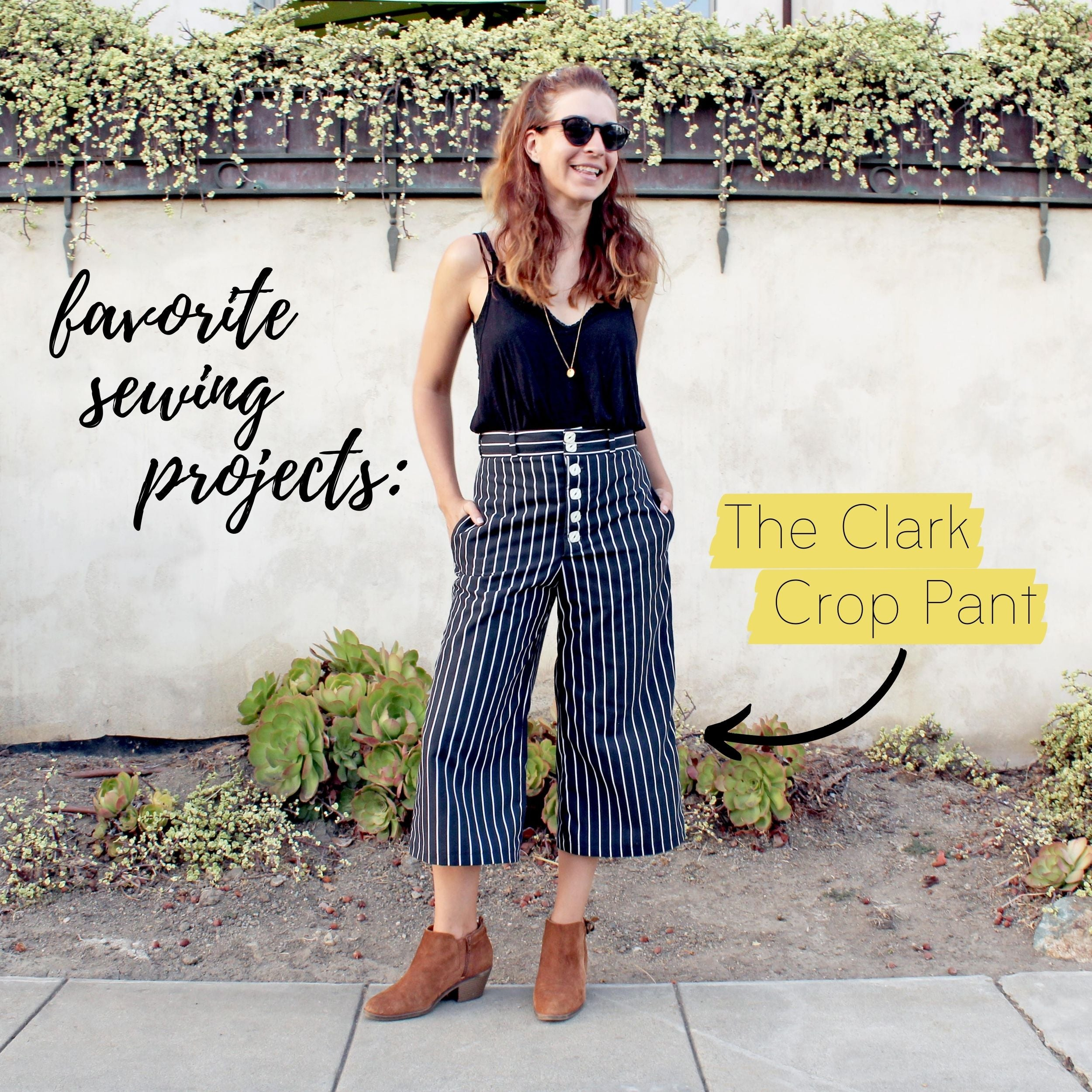 5 Favorite Sewing Projects & Reads The Clark Crop Pant