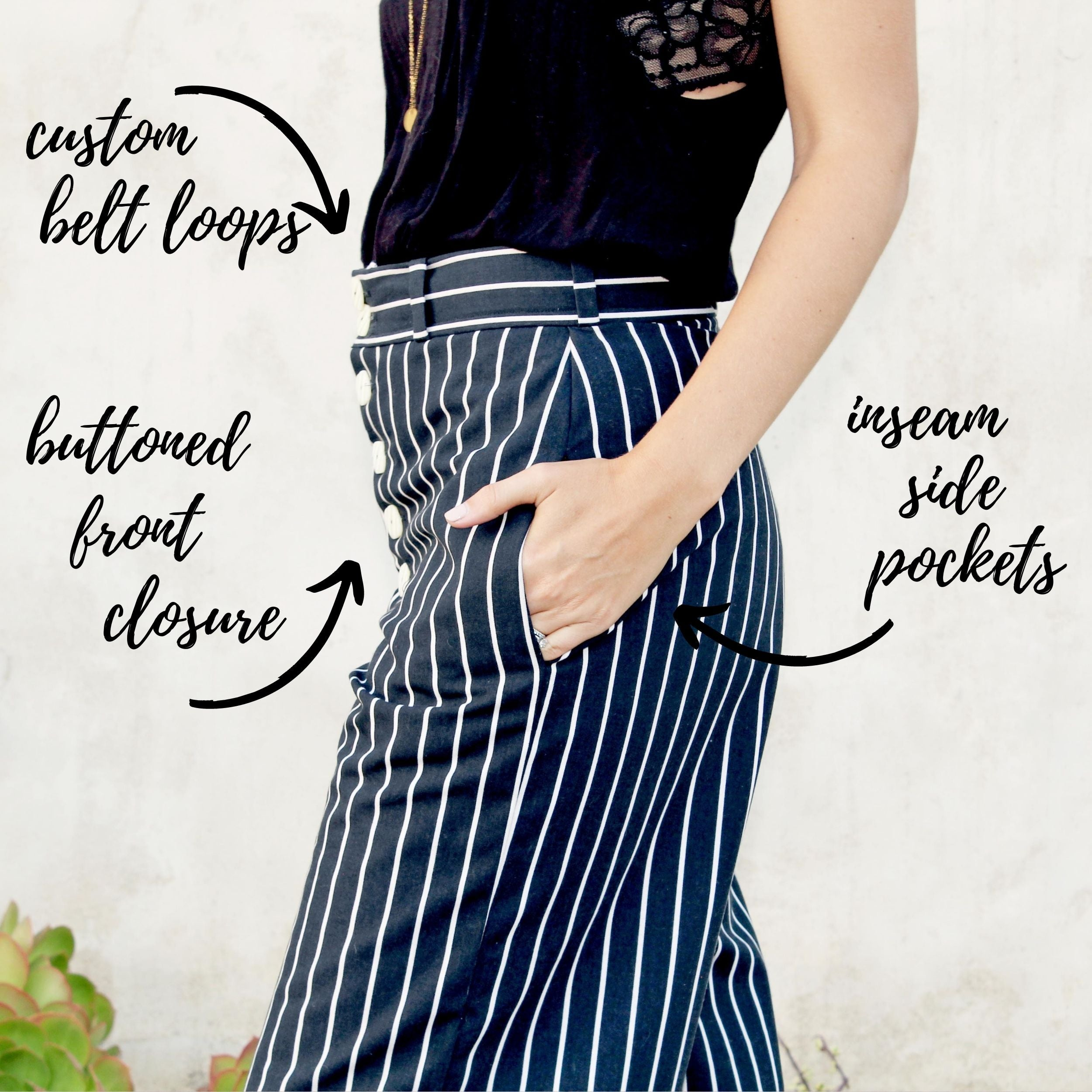 5 Favorite Sewing Projects & Reads The Clark Crop Pant Close Up