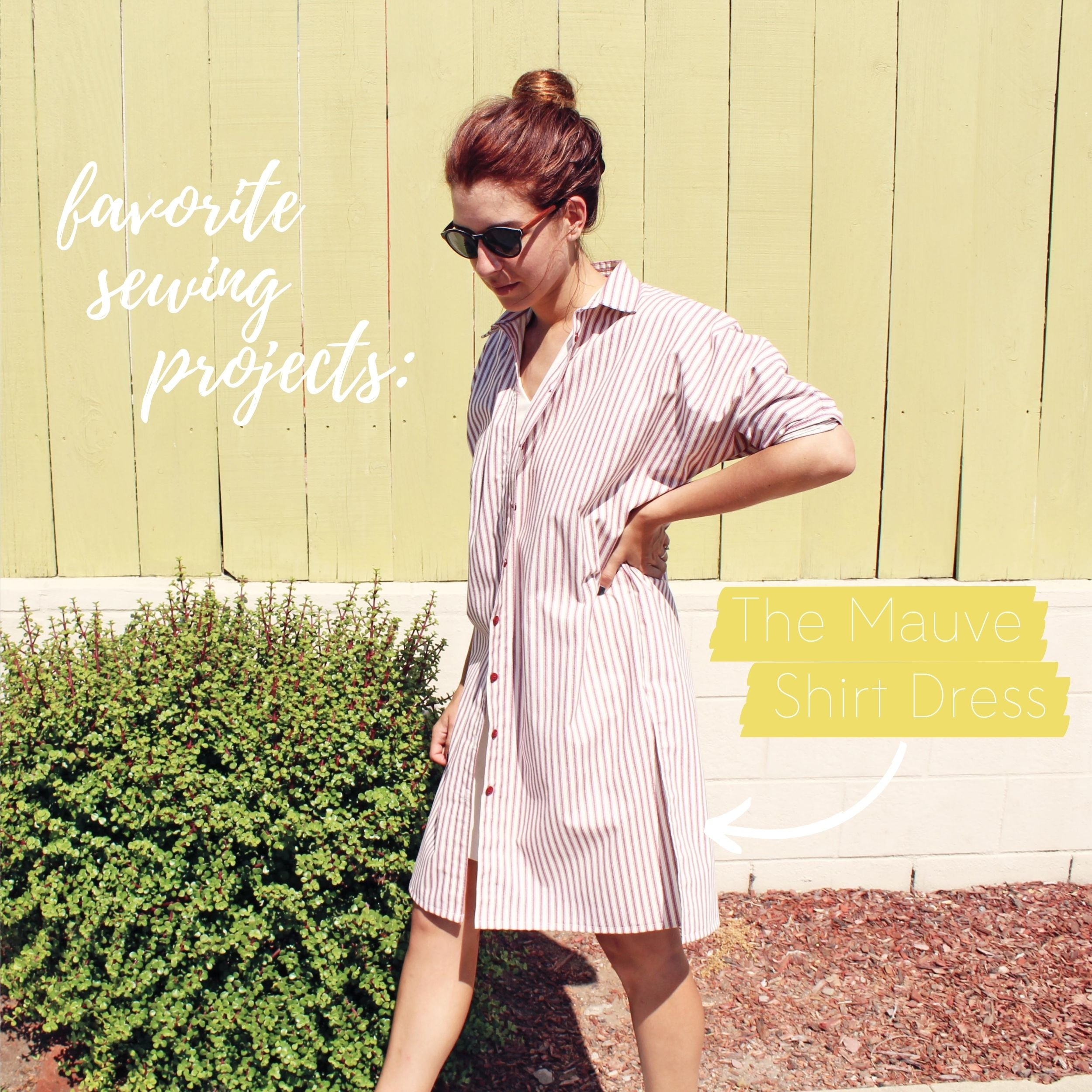 5 Favorite Sewing Projects & Reads The Mauve Shirt Dress