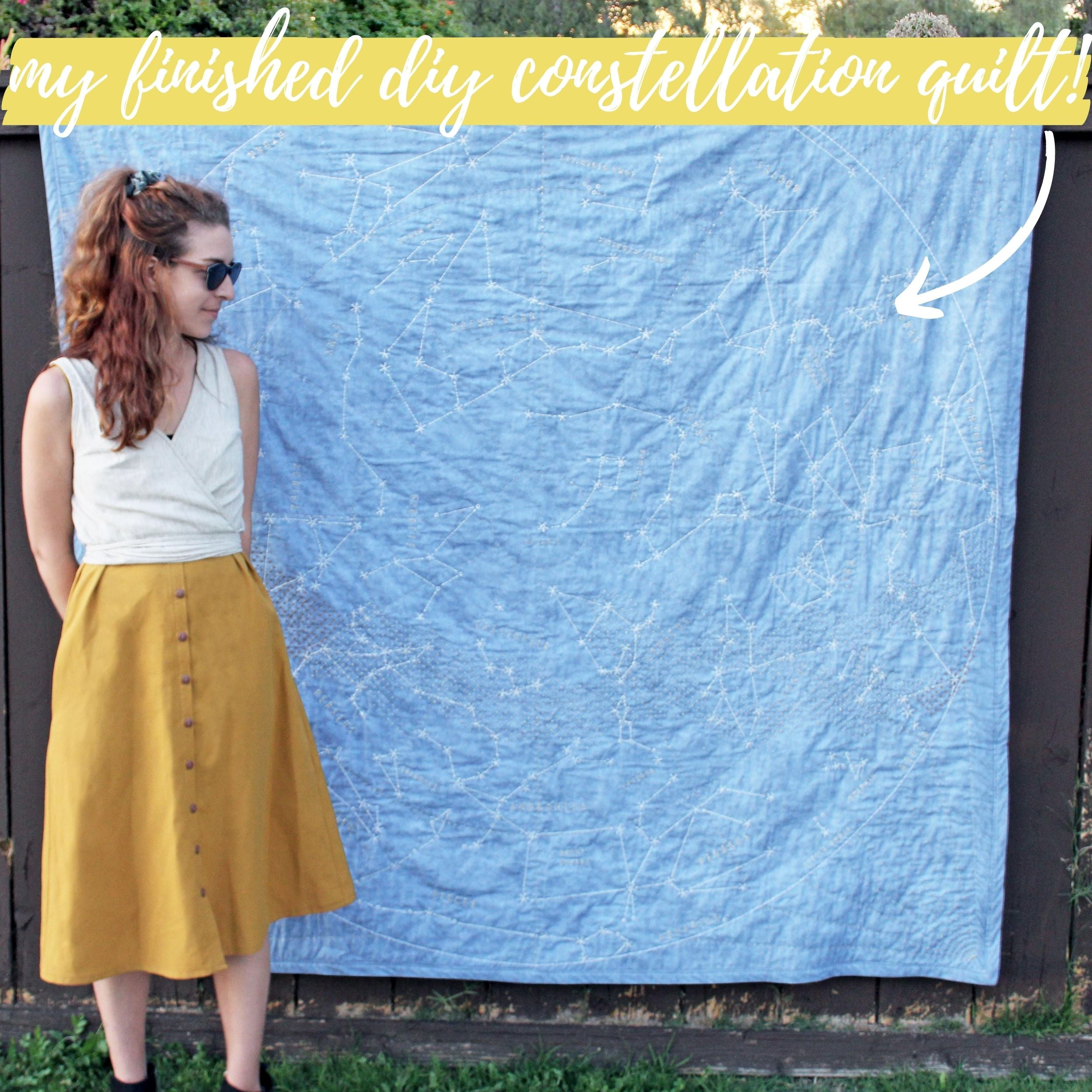 Favorite Sewing Projects: Finished DIY Constellation Quilt