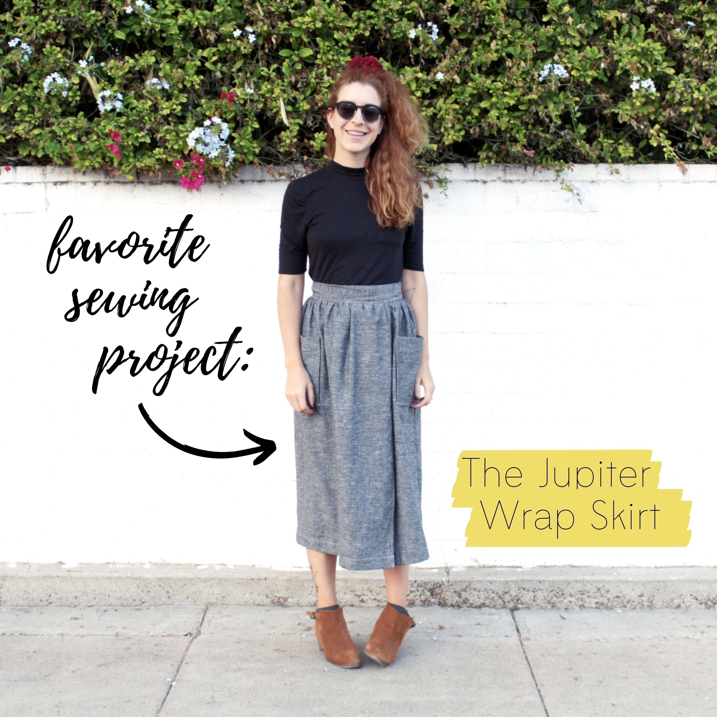 Favorite Sewing Project #3: The Jupiter Wrap Skirt