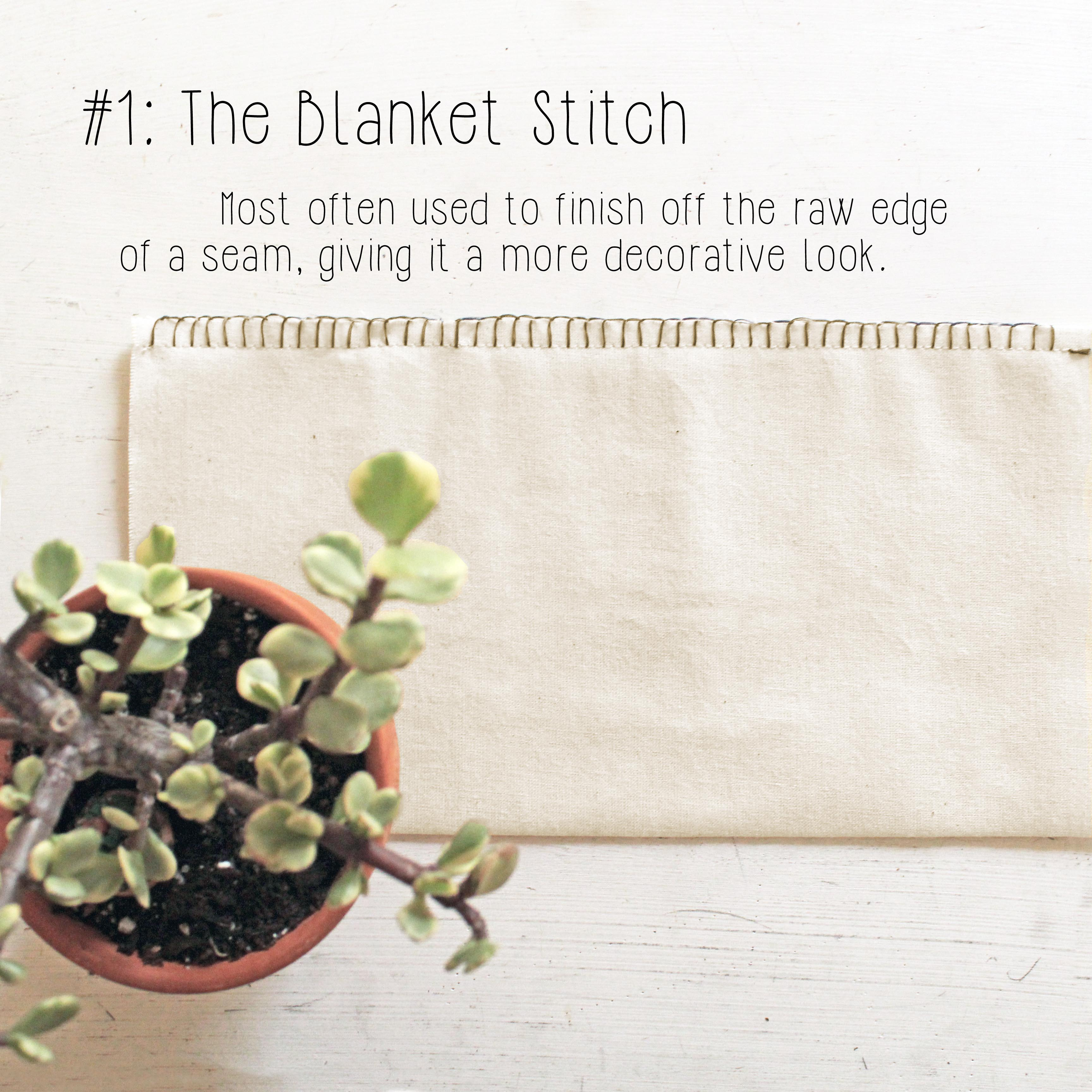 Different types of hand stitches: The blanket stitch