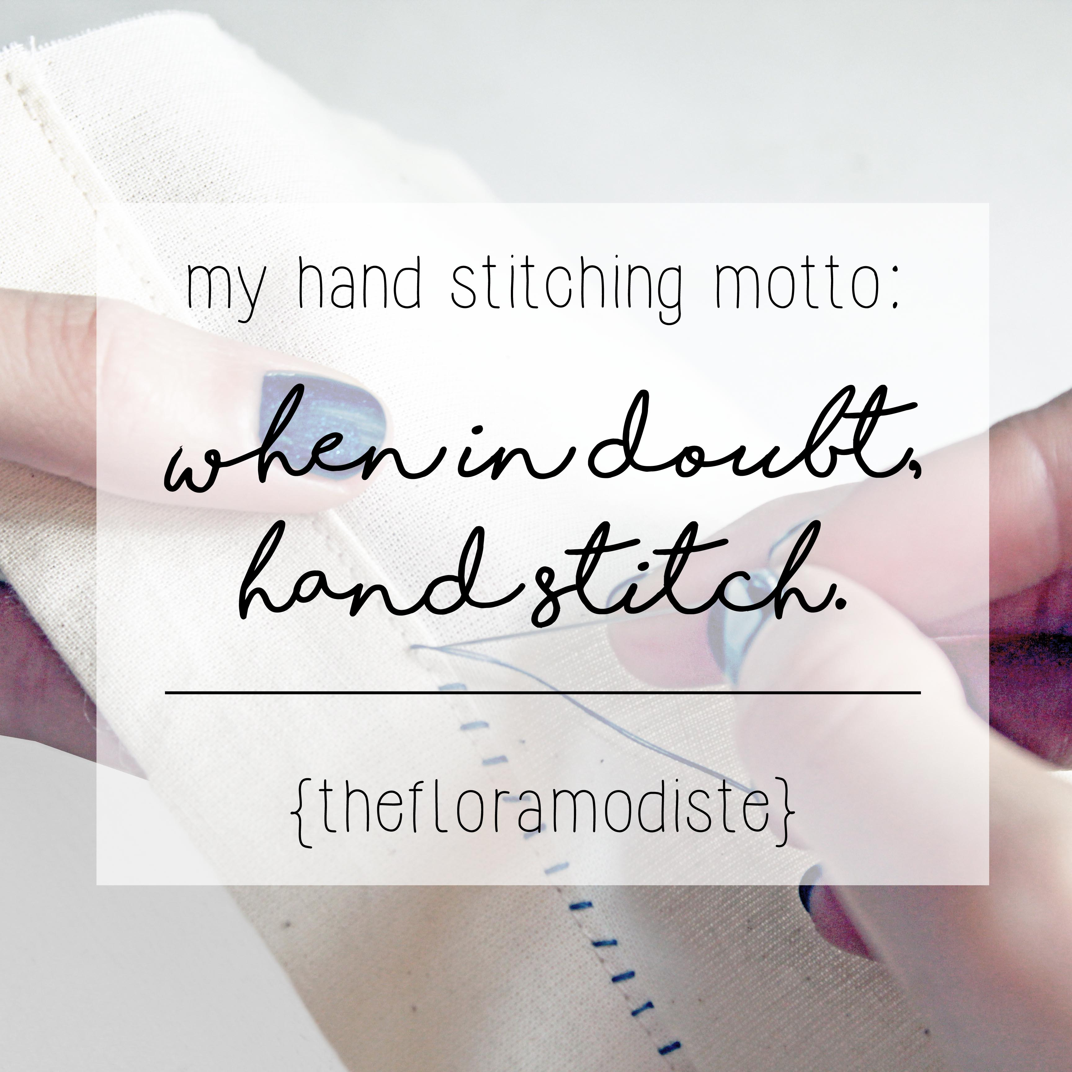 Different types of hand stitches motto