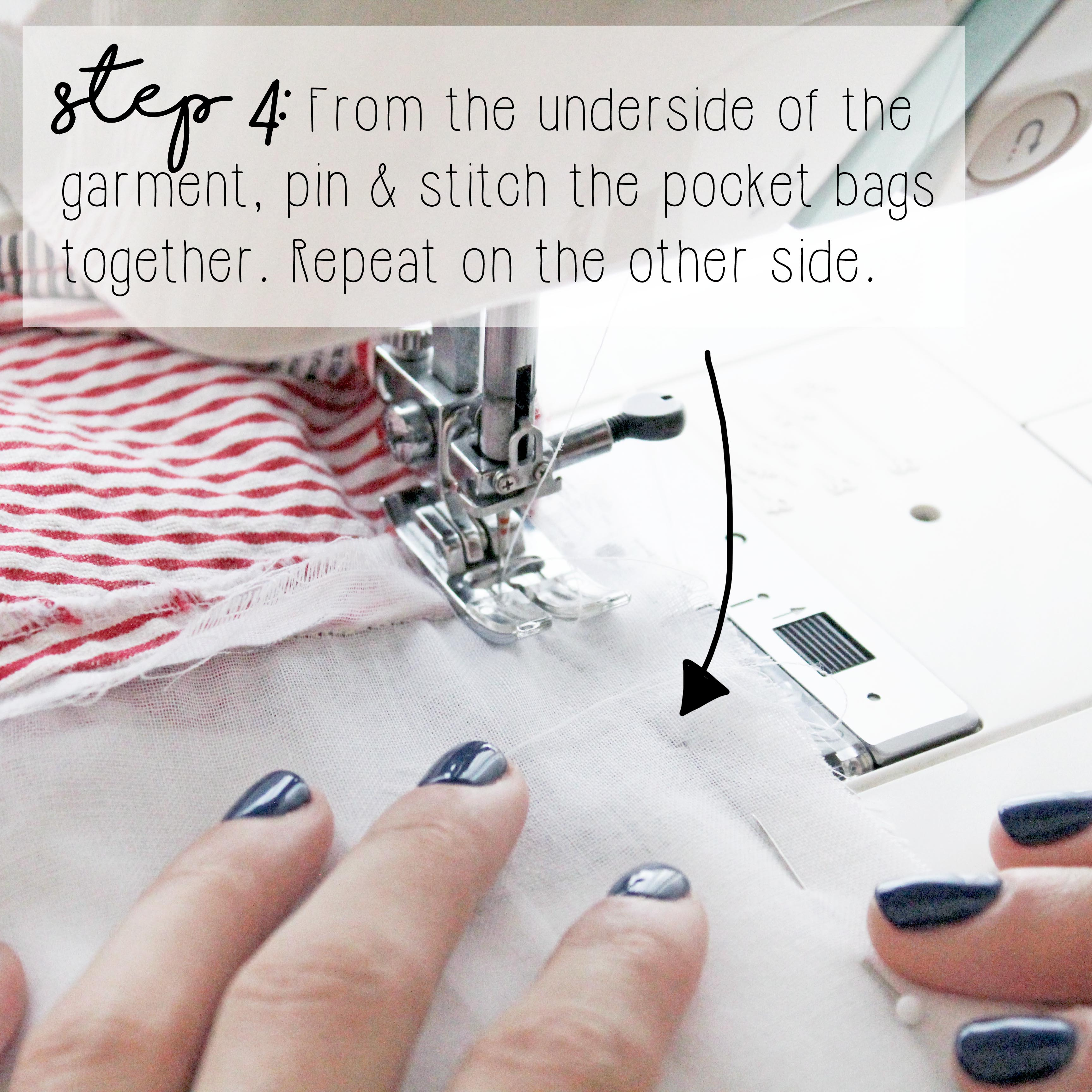 How To Add Side Pockets To A Dress: Step 4