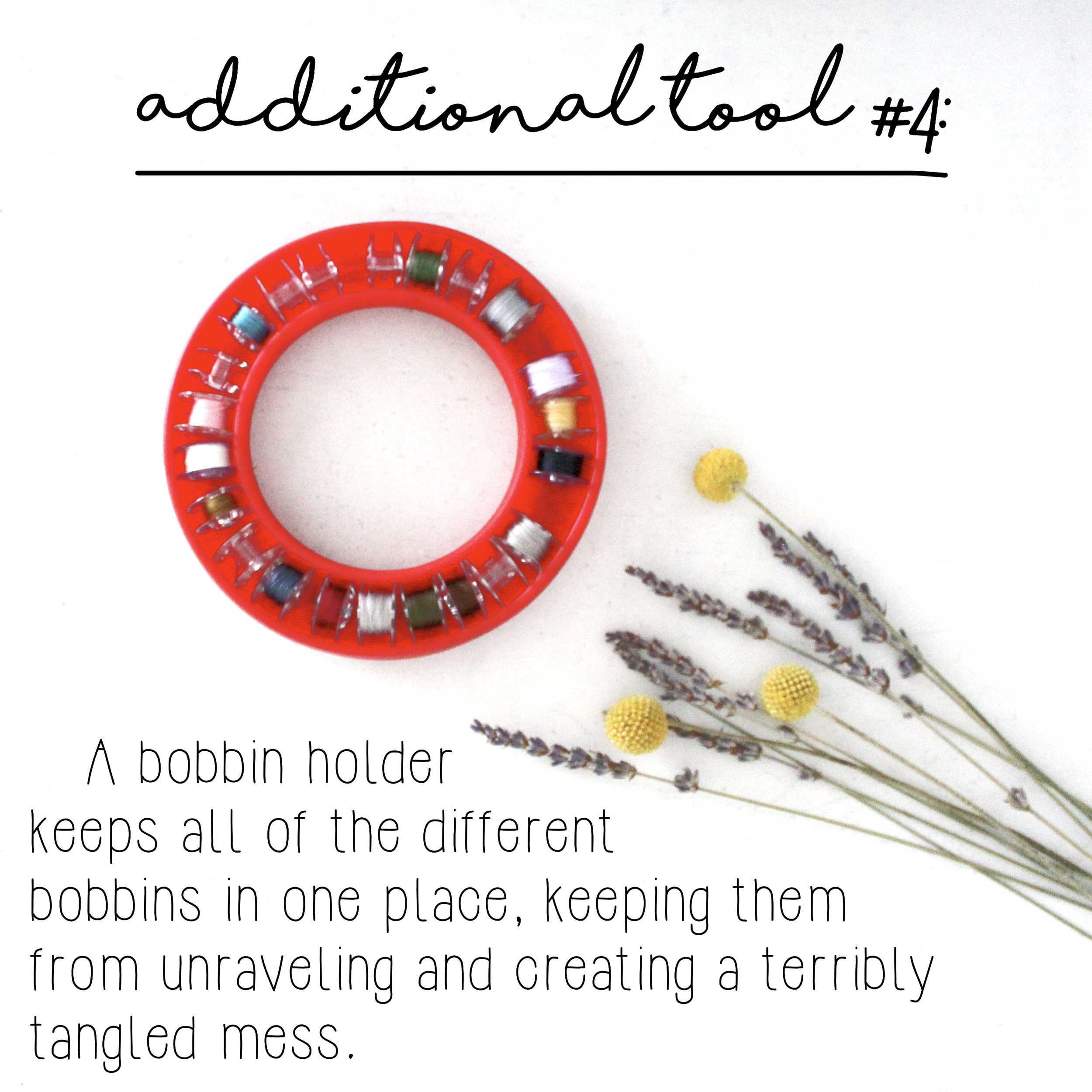 How To Build A Sewing Kit: Additional Tool #4, Bobbin Holder