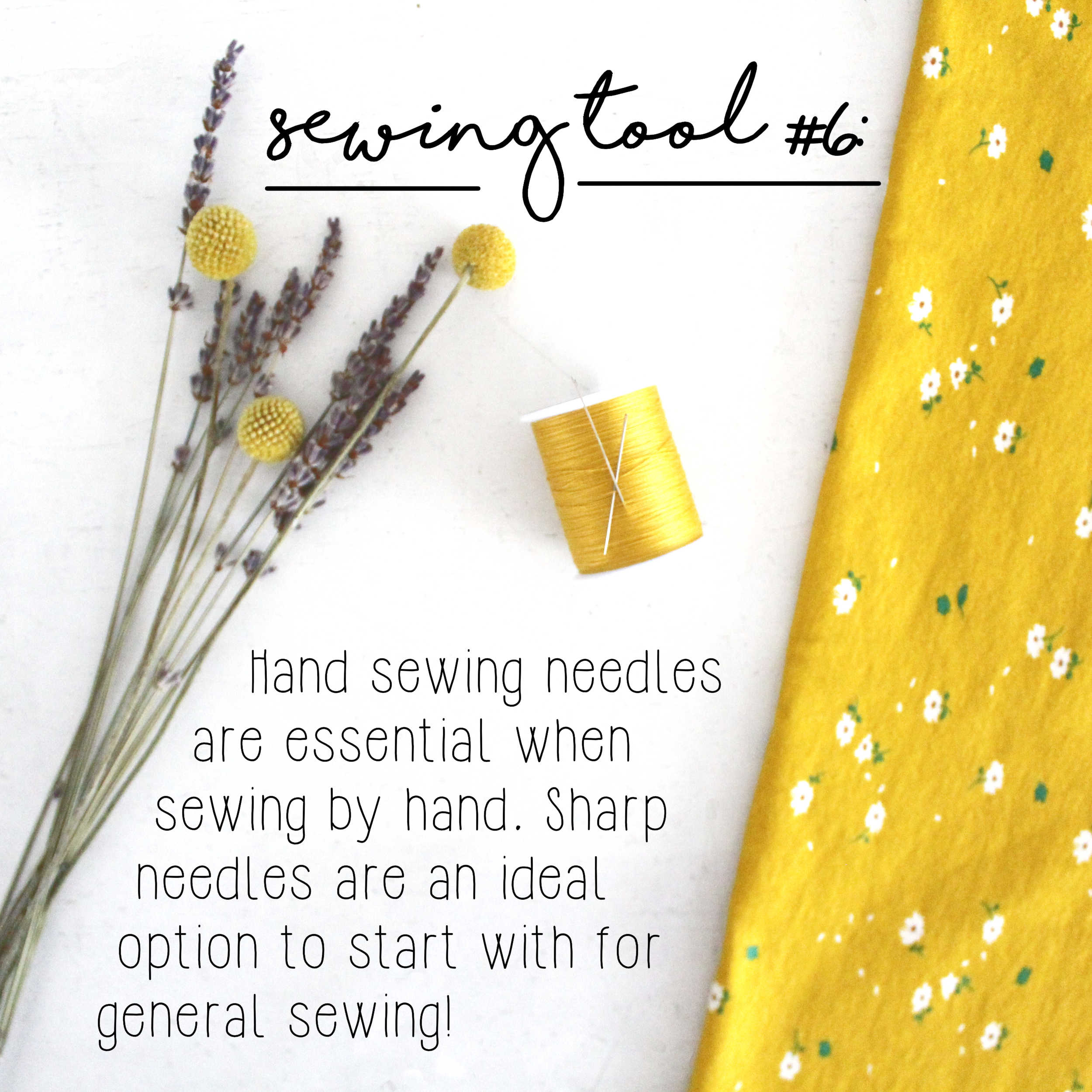 How To Build A Sewing Kit: Basic Tool #6, Hand Sewing Needles