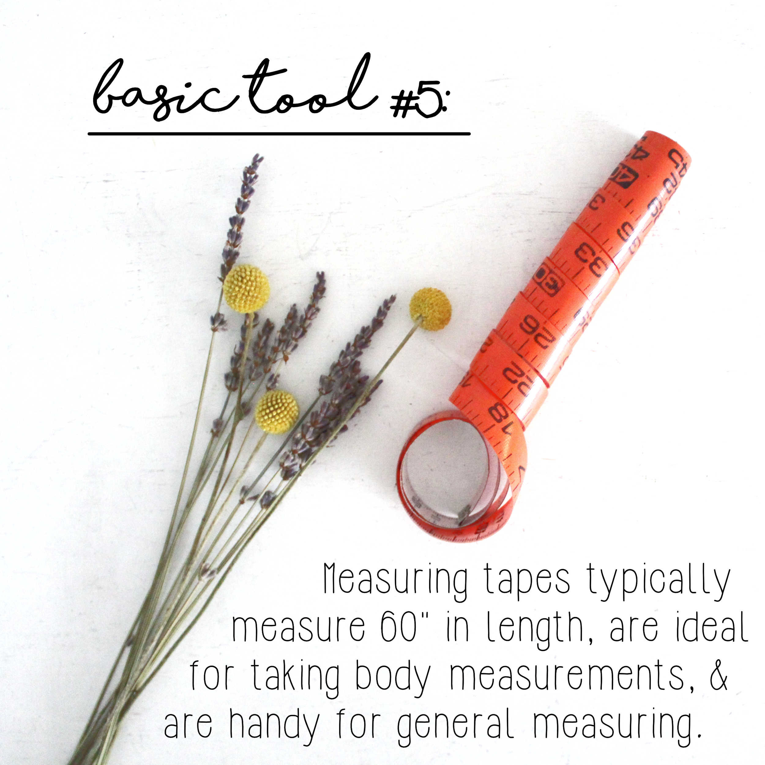 How To Build A Sewing Kit: Basic Tool #5, Measuring Tape
