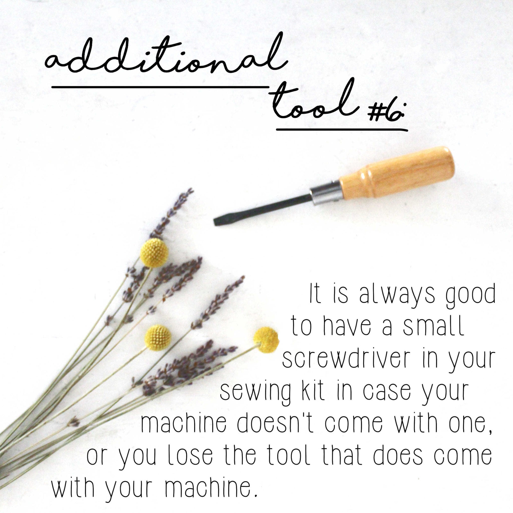 How To Build A Sewing Kit: Additional Tool #6, Flathead Screwdriver