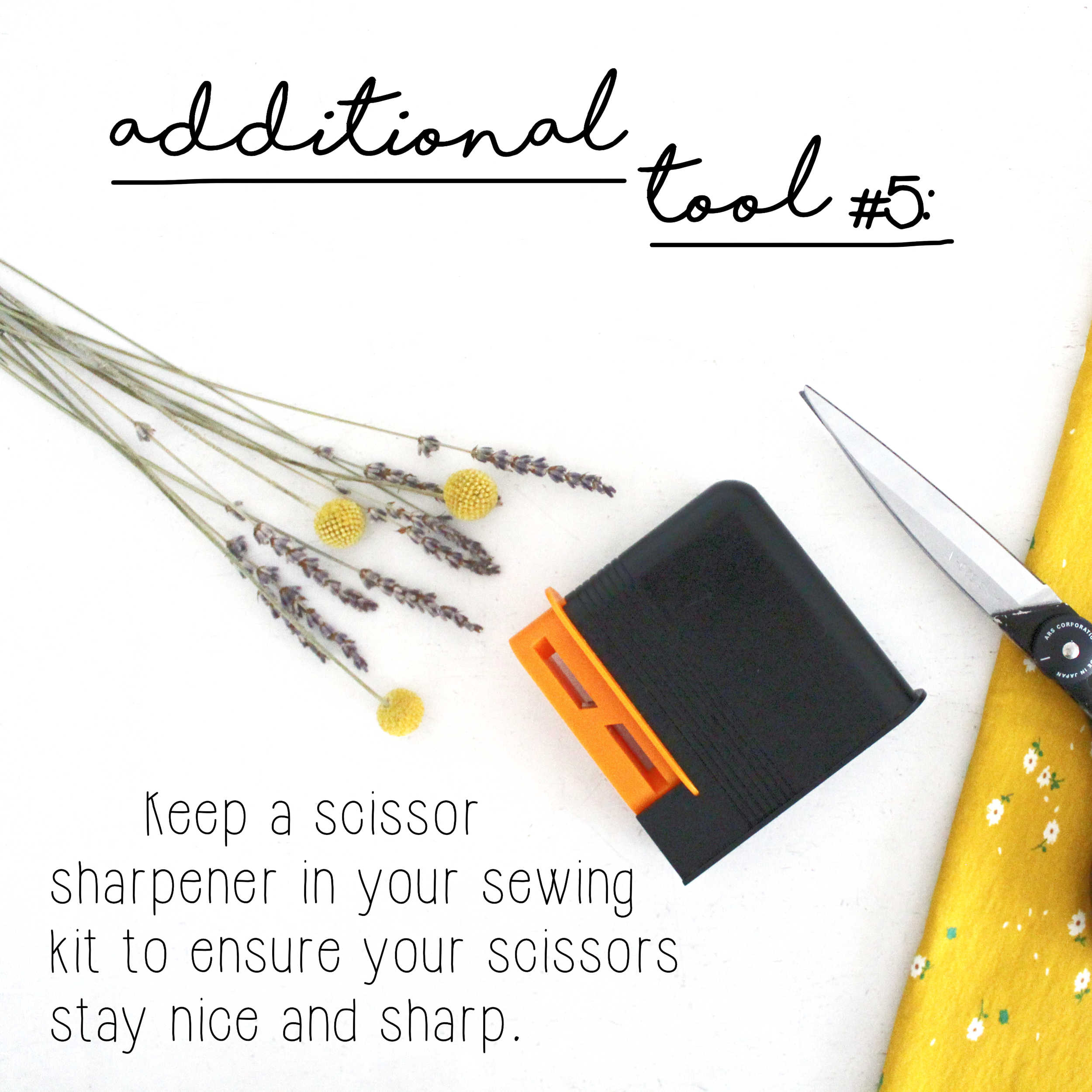 How To Build A Sewing Kit: Additional Tool #5, Scissor Sharpener