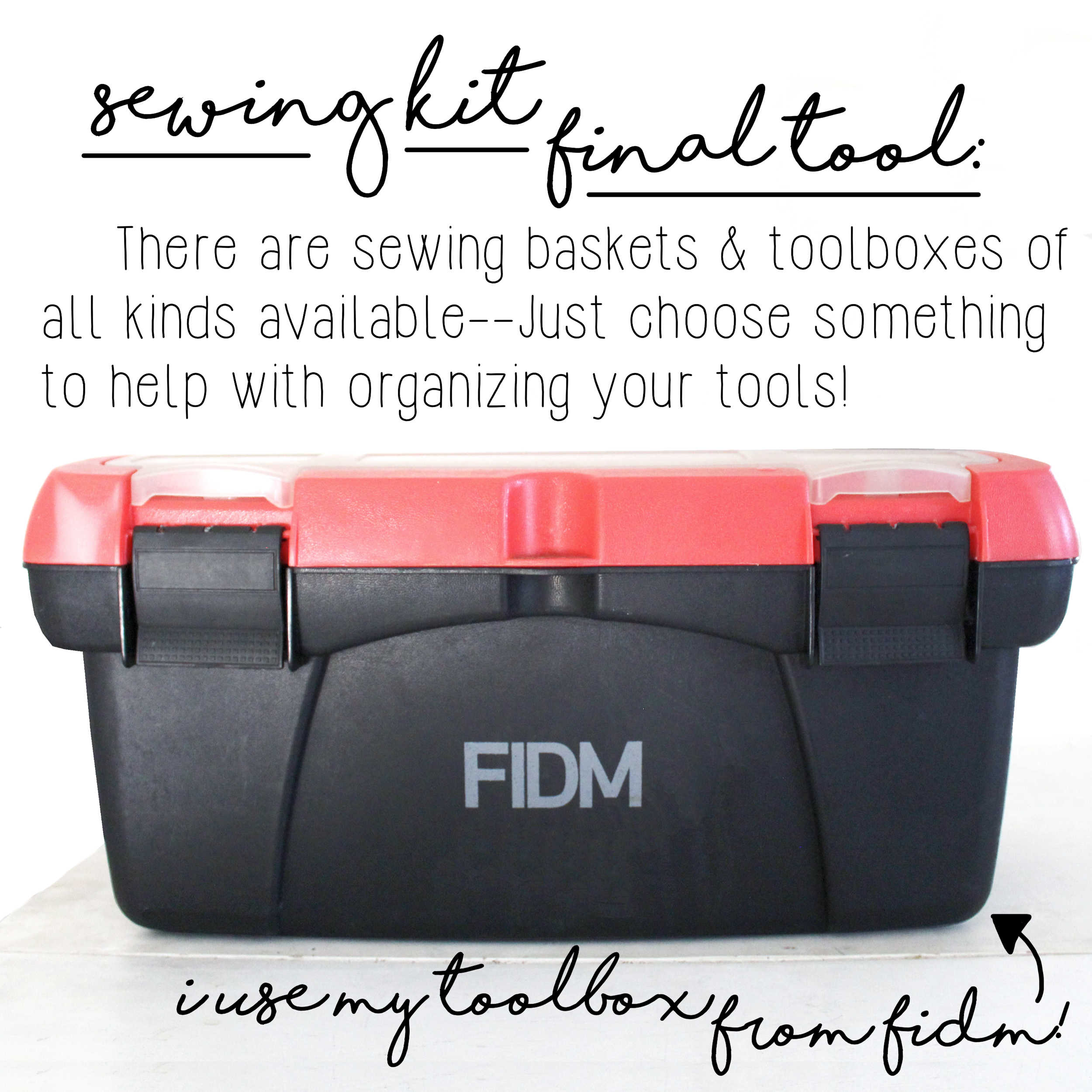 How To Build A Sewing Kit: Final Tool, Sewing Box/Toolbox