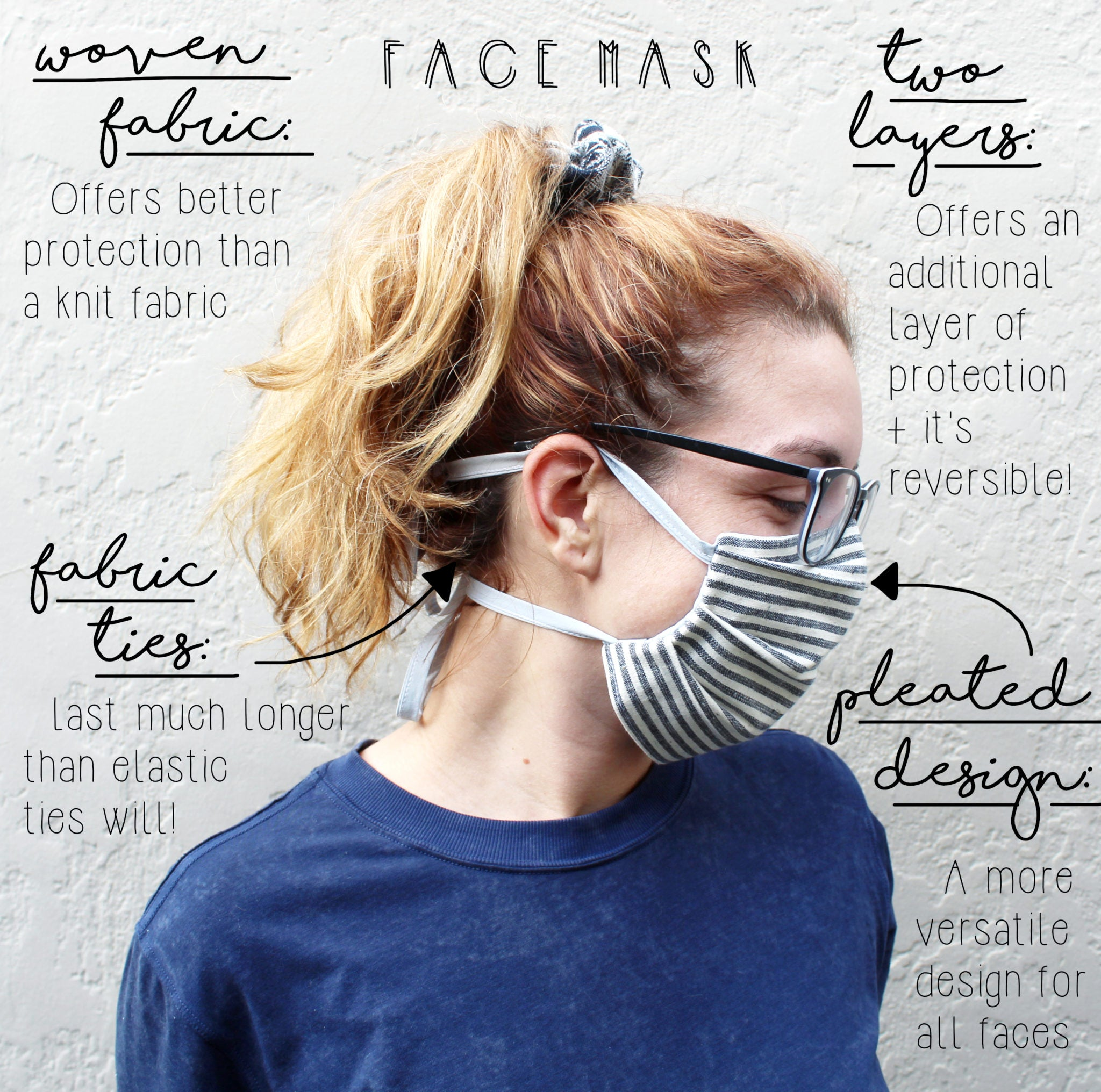 How To Make A Face Mask DIY Sewing Tutorial: Side View
